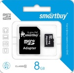 Карта памяти micro SDHC SmartBuy 8Gb + SD адаптер