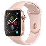 Apple Watch Series 4 US, 40 мм, корпус из золотистого алюминия, спортивный ремешок цвета «розовый песок» (золотистый)