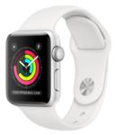 Силиконовый ремешок для Apple Watch 38/40mm Coteetci W3, белый