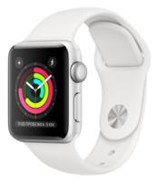 Силиконовый ремешок для Apple Watch 38/40 мм, белый