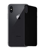 Защитное стекло на заднюю панель iPhone X, черное