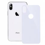 Защитное стекло на заднюю панель iPhone X с отверстием под яблоко, белое