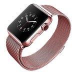 Металлический ремешок для Apple Watch 42mm COTEetCI W6, розовое золото