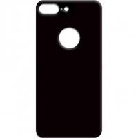 Защитное стекло на заднюю панель iPhone 8 Plus с отверстием под яблоко, черное