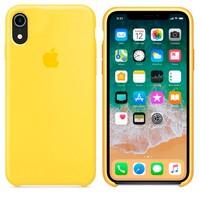 Чехол Silicon case iPhone XR, желтый