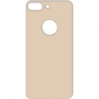 Защитное стекло на заднюю панель iPhone 8 Plus с отверстием под яблоко, золотое