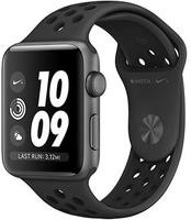 Apple Watch Nike+, 42 мм, корпус из алюминия цвета «серый космос», спортивный ремешок Nike цвета антрацитовый/черный
