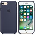Чехол Silicon case iPhone 7, темно-синий