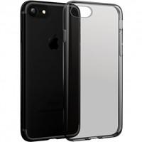 Чехол силиконовый прозрачный iPhone 7/iPhone 8, черный