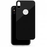 Защитное стекло на заднюю панель iPhone X с отверстием под яблоко, черное