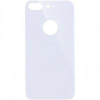 Защитное стекло на заднюю панель iPhone 8 Plus с отверстием под яблоко, белое