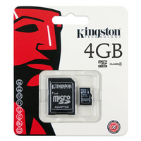 Карта памяти Kingston MicroSDHC 4GB Class 4 + SD адаптер