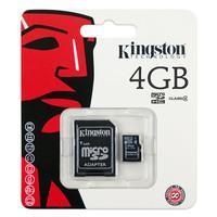 Карта памяти Kingston MicroSDHC 4GB Class 4 + SD адаптер