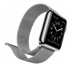 Металлический ремешок для Apple Watch 38mm COTEetCI W6, серебристый