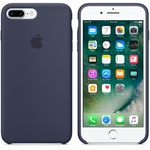 Чехол Silicon case iPhone 7 Plus/iPhone 8 Plus, темно-синий