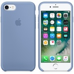 Чехол Silicon case iPhone 7/iPhone 8, лазурный