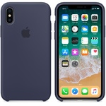 Чехол Silicon case iPhone X, темно-синий