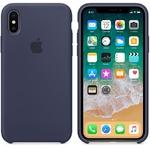 Чехол Silicon case iPhone X, темно-синий