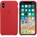 Чехол Silicon case iPhone X, красный