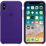 Чехол Silicon case iPhone X, фиолетовый