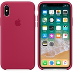Чехол Silicon case iPhone X, малиновый