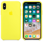 Чехол Silicon case iPhone X, желтый