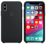 Чехол Silicon case iPhone XS, черный