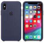 Чехол Silicon case iPhone XS, темно-синий