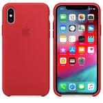 Чехол Silicon case iPhone XS, красный
