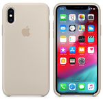 Чехол Silicon case iPhone XS Max, бежевый