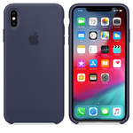 Чехол Silicon case iPhone XS Max, темно-синий