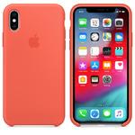 Чехол Silicon case iPhone XS, оранжевый