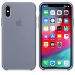 Чехол Silicon case iPhone XS, темная лаванда