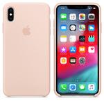 Чехол Silicon case iPhone XS Max, розовый песок