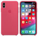 Чехол Silicon case iPhone XS Max, красный каркаде