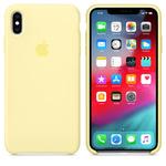 Чехол Silicon case iPhone XS Max, лимонный крем