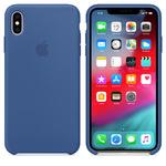 Чехол Silicon case iPhone XS Max, ярко-синий