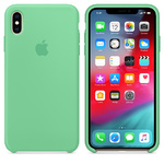 Чехол Silicon case iPhone XS Max, нежная мята