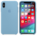 Чехол Silicon case iPhone X, голубой