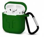 Чехол силиконовый с карабином Apple AirPods, зеленый