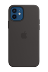 Силиконовый чехол MagSafe для iPhone 12 mini, черный