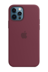 Силиконовый чехол MagSafe для iPhone 12/12 Pro, сливовый