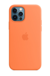 Силиконовый чехол MagSafe для iPhone 12/12 Pro, кумкват