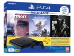 Sony PlayStation 4 Slim 1Tb + Detroit + Horizon: Zero Dawn +The Last of US