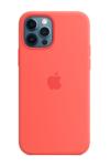 Силиконовый чехол MagSafe для iPhone 12/12 Pro, розовый цитрус