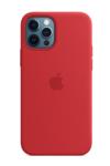 Силиконовый чехол MagSafe для iPhone 12 Pro Max, красный