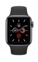Apple Watch Series 5, 40mm, Корпус из алюминия цвета «серый космос», спортивный ремешок черного цвета