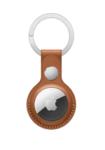 Брелок для Apple AirTag с кольцом для ключей, коричневый