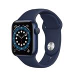 Apple Watch Series 6, 40MM, Корпус из алюминия синего цвета, Спортивный ремешок синего цвета