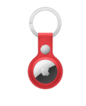 Брелок для Apple AirTag с кольцом для ключей, красный